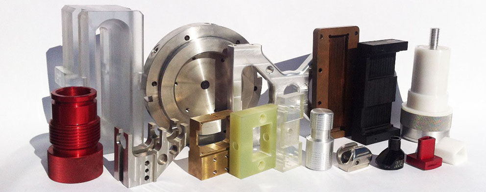 CNC Machining from Aluminum, Steel, Stainless Steel, Titanium, Brass, Copper, Plastics, Wood, Extrusions, Castings, Forgings, Hex, Square, Flats